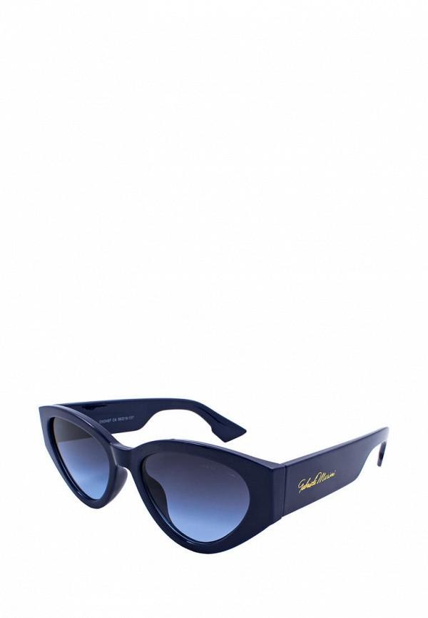 женские солнцезащитные очки кошачьи глаза gabriela marioni, синие