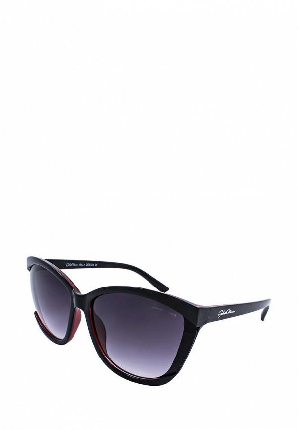 женские солнцезащитные очки кошачьи глаза gabriela marioni, бордовые