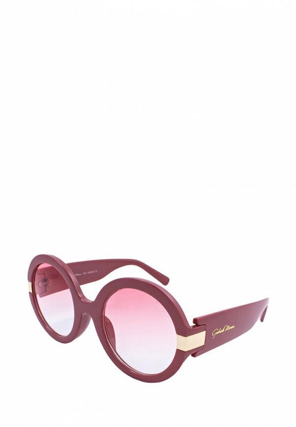 женские круглые солнцезащитные очки gabriela marioni, красные