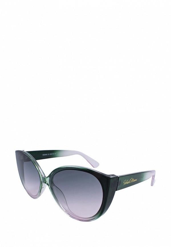 женские солнцезащитные очки кошачьи глаза gabriela marioni, зеленые