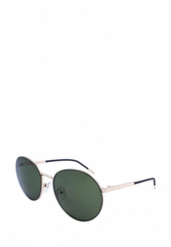 женские круглые солнцезащитные очки furlux, зеленые