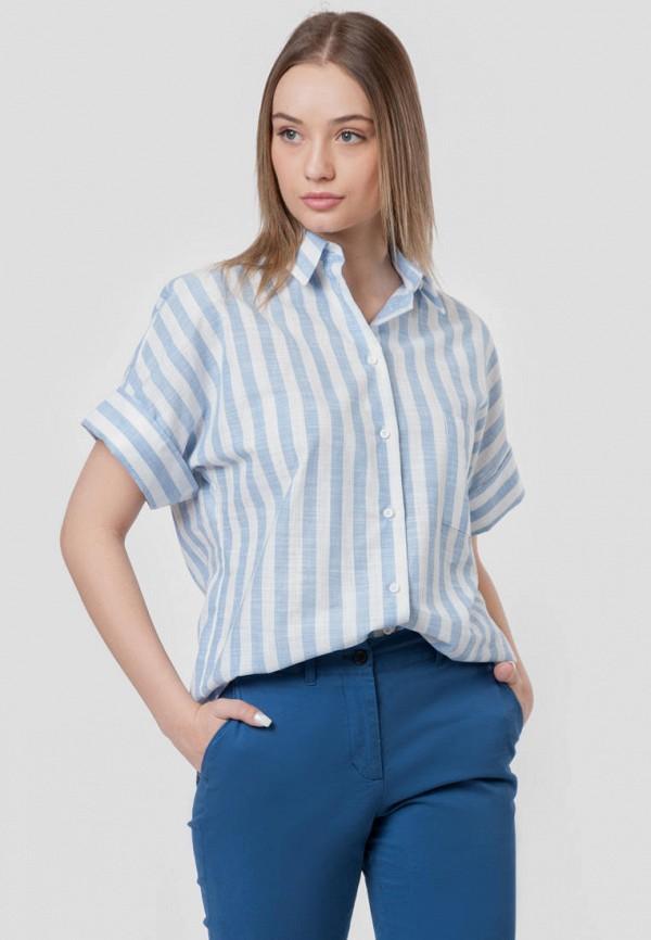 женская рубашка с коротким рукавом arber, голубая