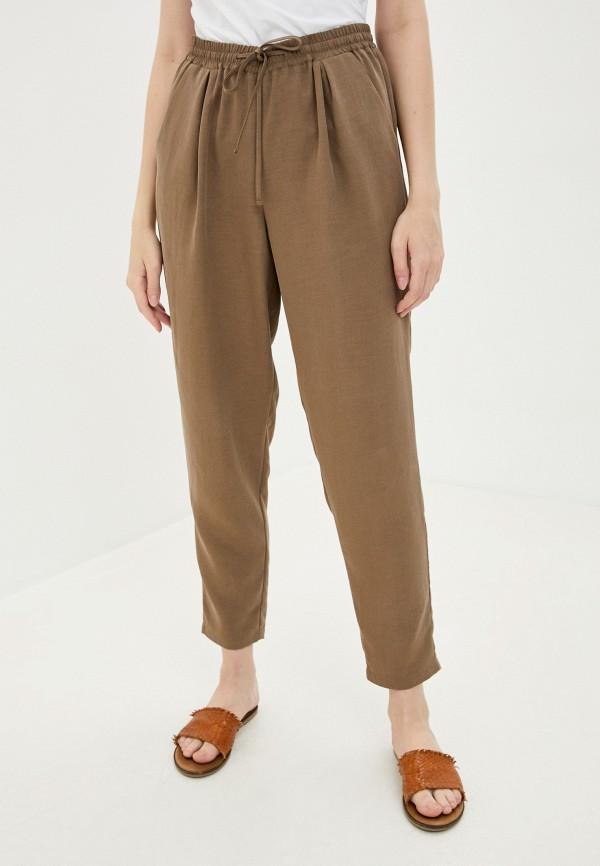 женские брюки джоггеры mira rico, коричневые
