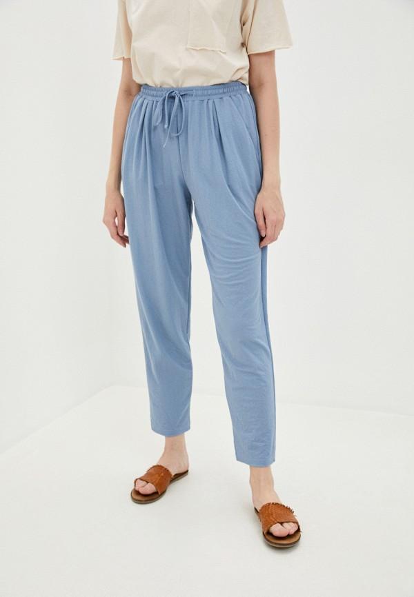 женские брюки джоггеры mira rico, голубые