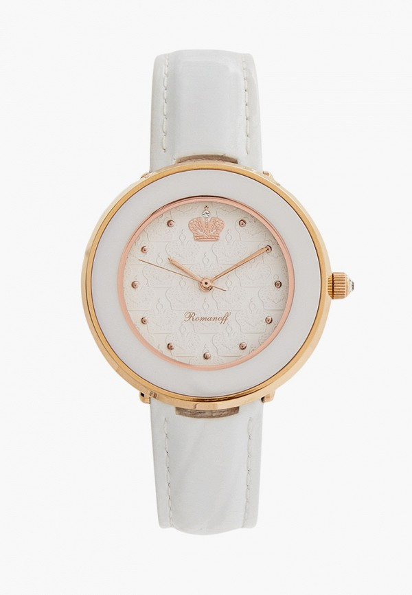 женские часы romanoff, белые