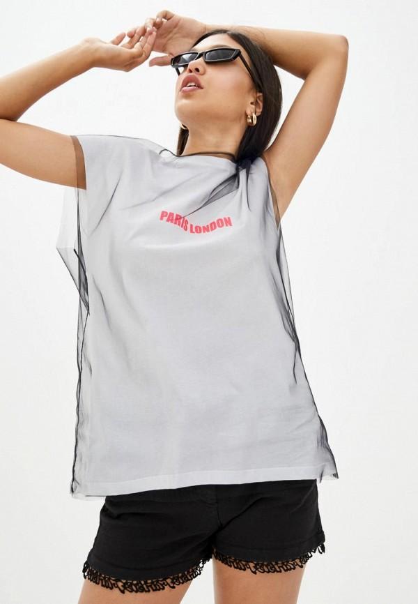 женская футболка frankie morello, серая