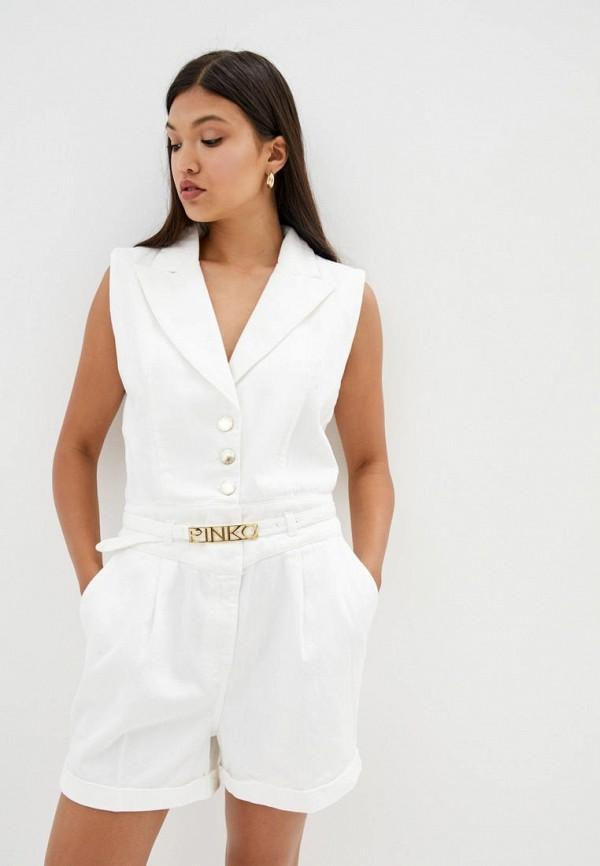 женский джинсовые комбинезон pinko, белый