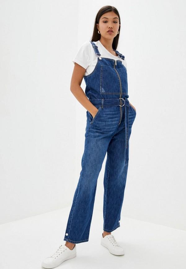 женский джинсовые комбинезон pinko, синий