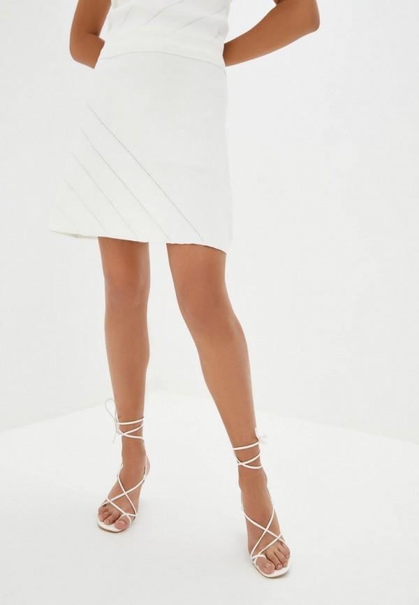 женская юбка silvian heach, белая