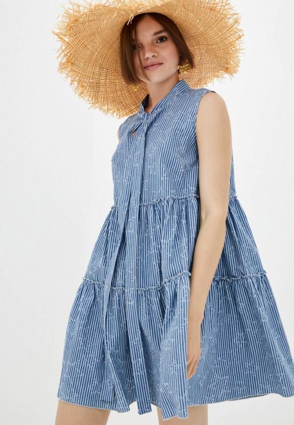 женское повседневные платье frankie morello, голубое