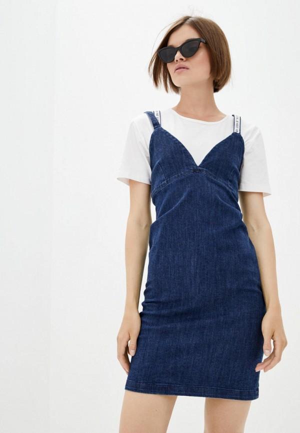 женское джинсовые платье frankie morello, синее
