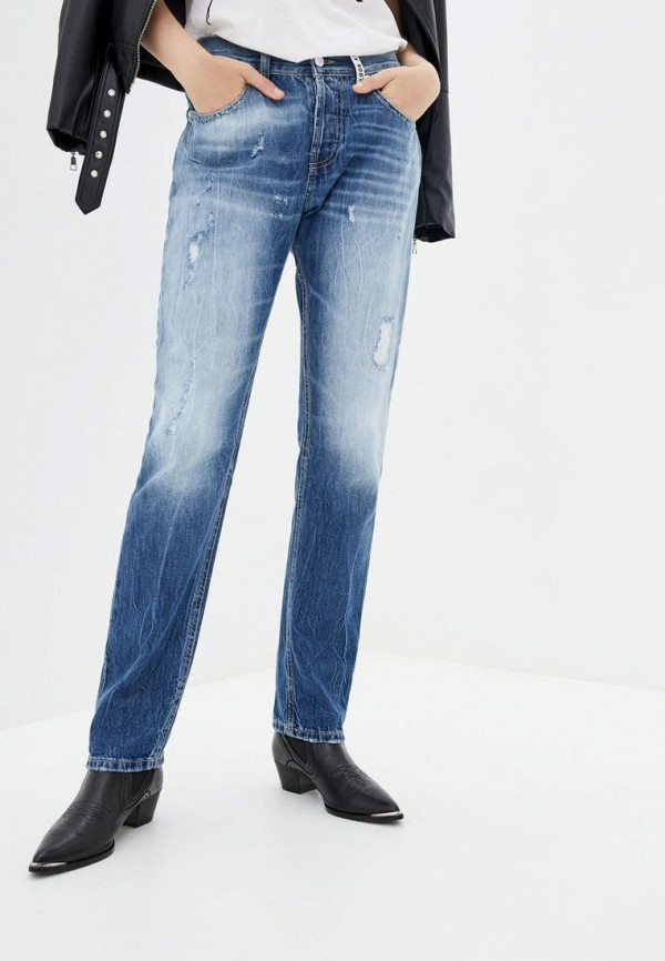 женские прямые джинсы frankie morello, голубые