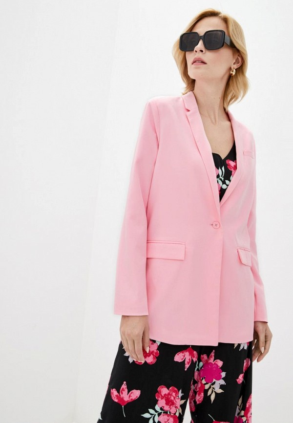 женский пиджак silvian heach, розовый