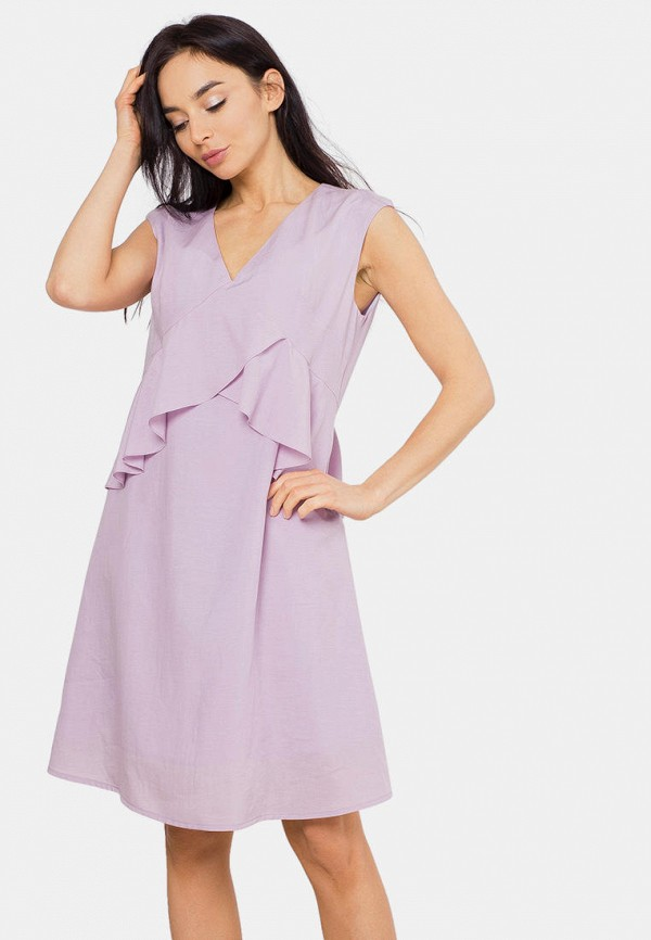 женское повседневные платье mr520, фиолетовое