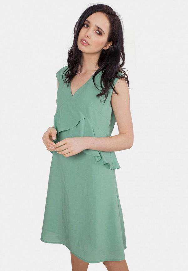 женское повседневные платье mr520, бирюзовое