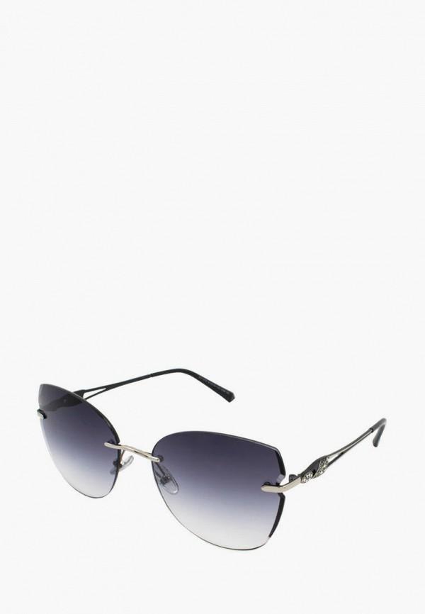женские солнцезащитные очки кошачьи глаза kaizi, серебряные