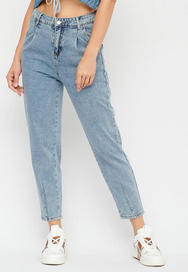 женские джинсы-мом bellart, голубые