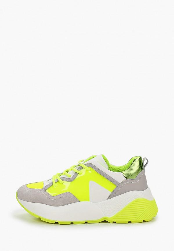 женские низкие кроссовки vitacci, желтые