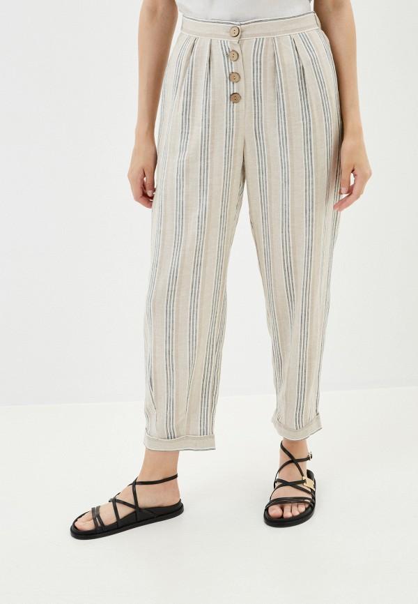 женские повседневные брюки befree, бежевые