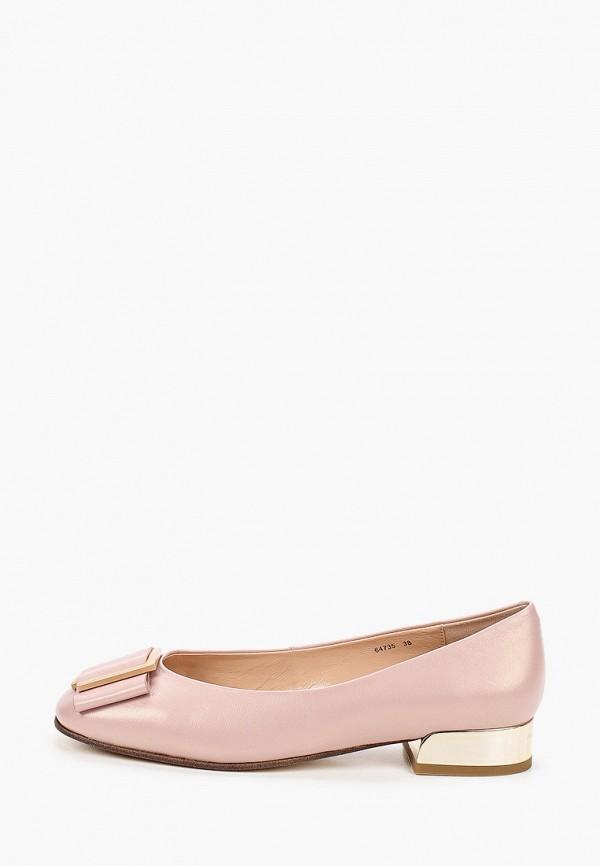 женские туфли с закрытым носом vitacci, розовые