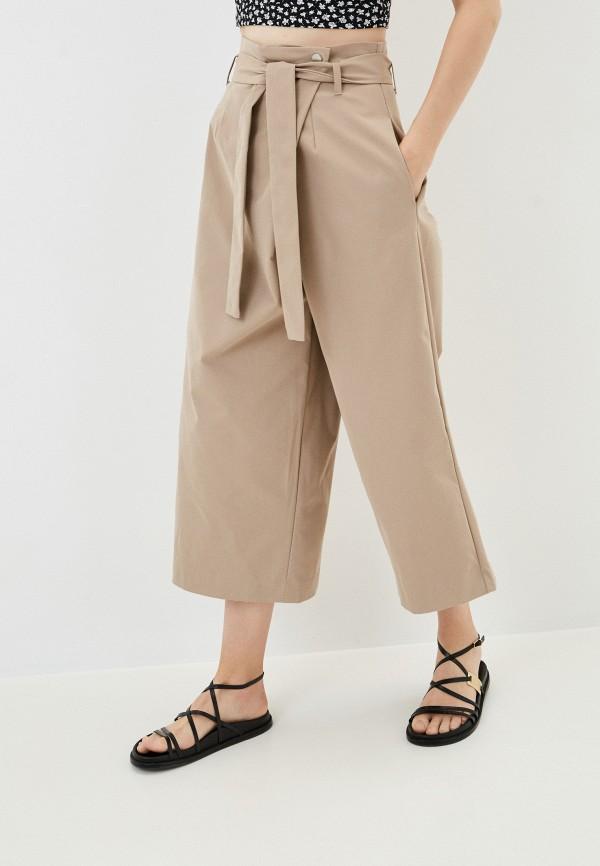 женские брюки кюлоты befree, бежевые