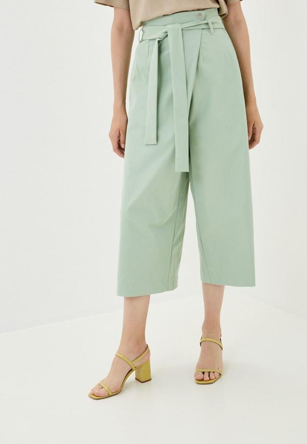 женские брюки кюлоты befree, зеленые