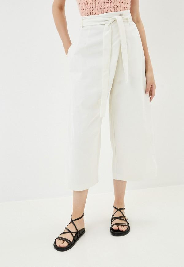 женские брюки кюлоты befree, белые