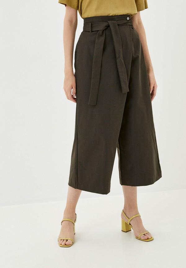 женские брюки кюлоты befree, коричневые