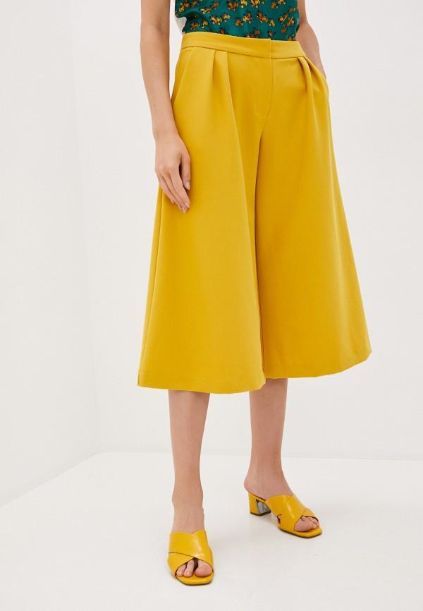 женские брюки кюлоты medea maris, желтые