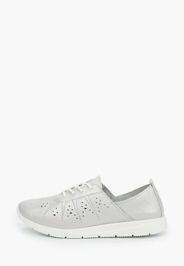 женские низкие ботинки zenden comfort, серебряные