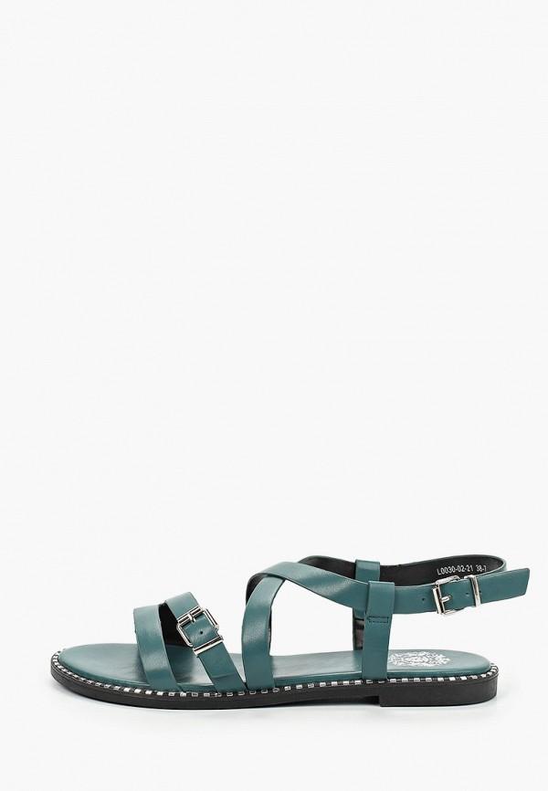 женские сандалии inario, зеленые