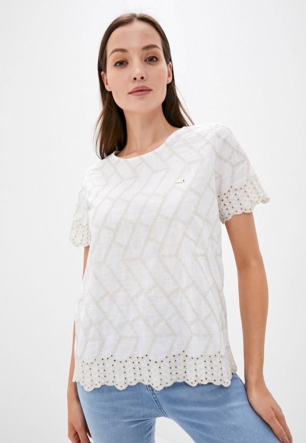 женская блузка с коротким рукавом u.s. polo assn, белая