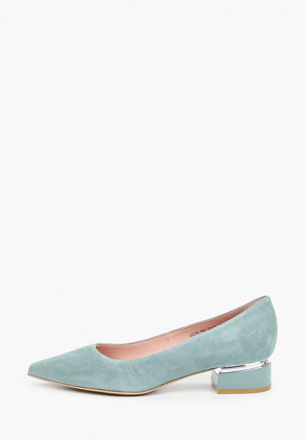 женские туфли с закрытым носом giotto, зеленые