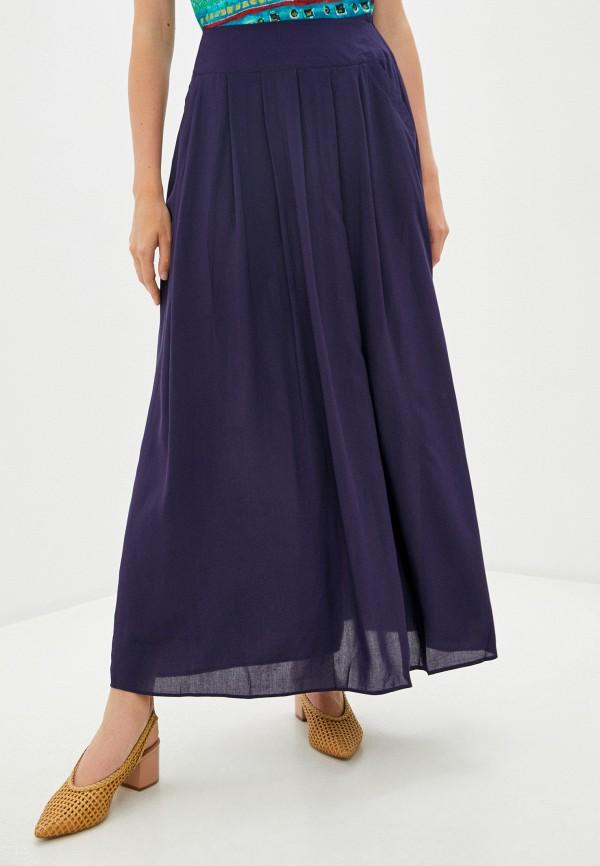 женская юбка-трапеции viserdi, синяя