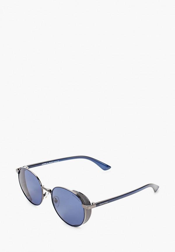 женские круглые солнцезащитные очки katrin jones, синие