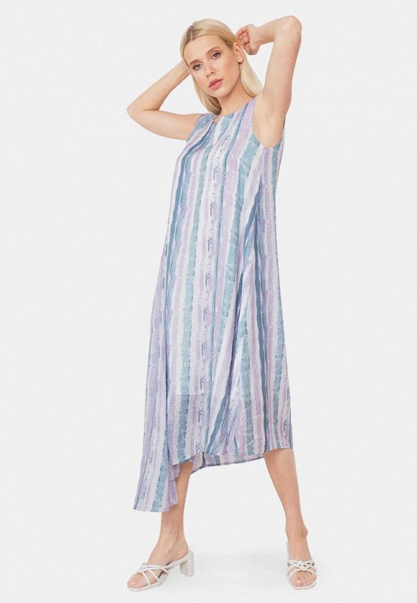 женское повседневные платье mr520, голубое