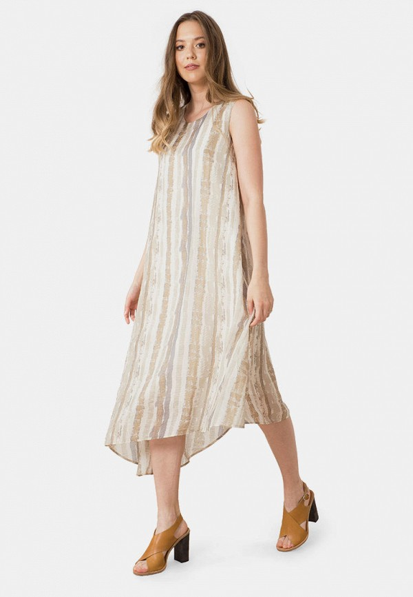 женское повседневные платье mr520, бежевое