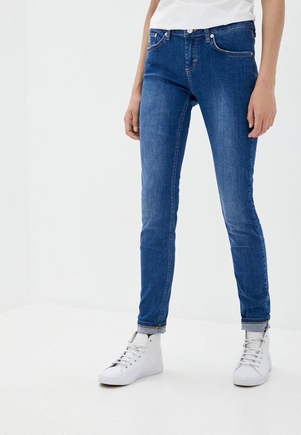 женские джинсы скинни lacoste, синие