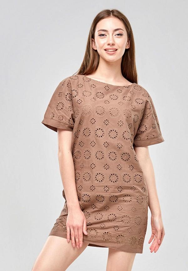 женское повседневные платье ora, коричневое