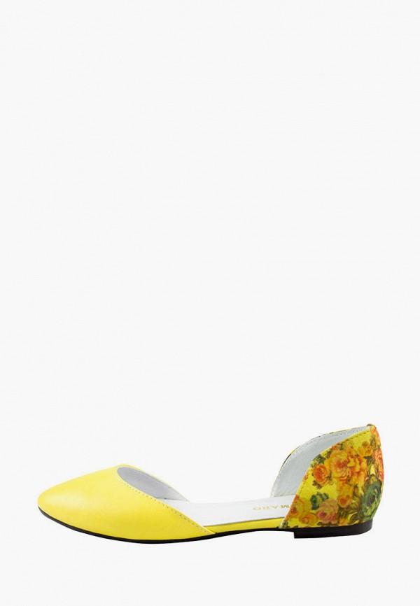 женские балетки alromaro, желтые