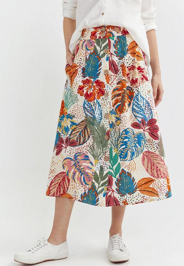 женская юбка springfield, разноцветная