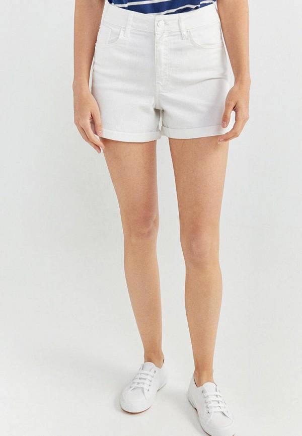женские джинсовые шорты springfield, белые