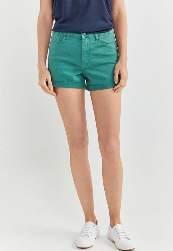 женские повседневные шорты springfield, зеленые