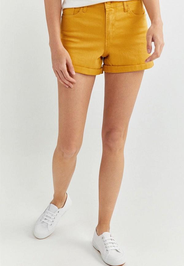 женские повседневные шорты springfield, желтые