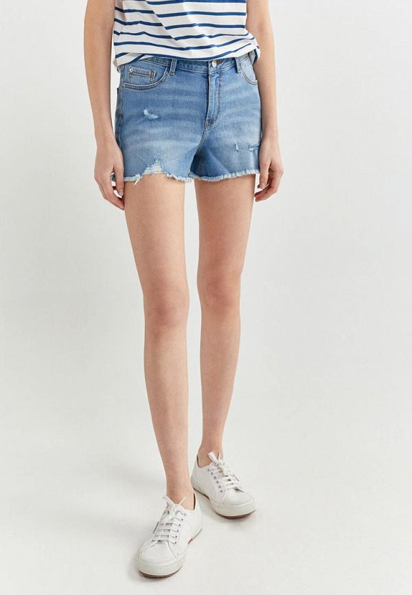 женские джинсовые шорты springfield, голубые