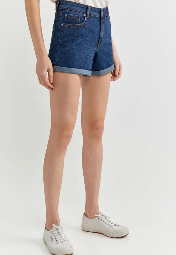 женские джинсовые шорты springfield, синие