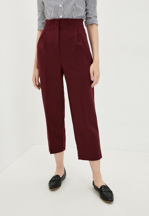 женские повседневные брюки zarina, бордовые