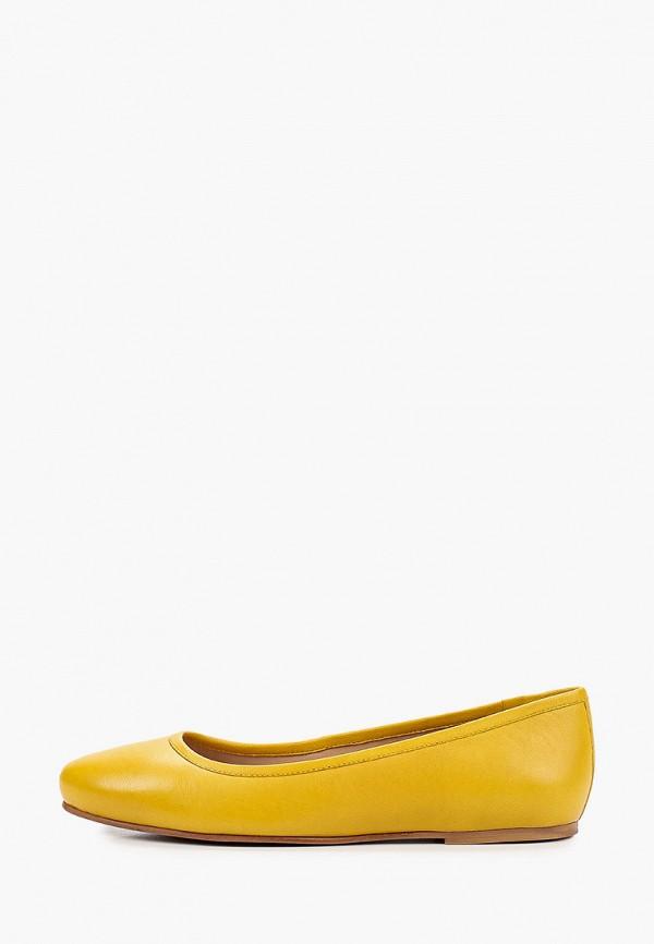женские балетки riveri, желтые
