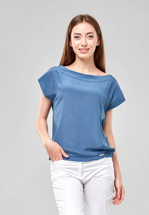 женская блузка ora, голубая