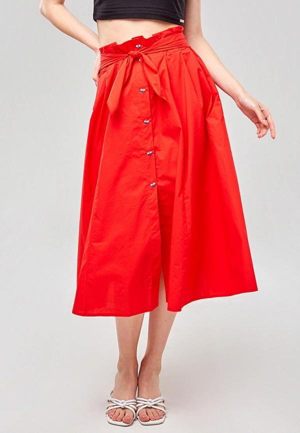 женская юбка ora, красная